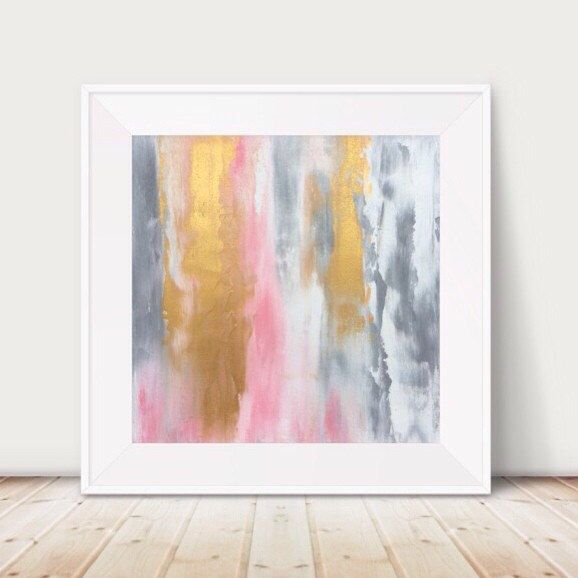 A personal favourite from my Etsy shop https://www.etsy.com/au/listing/257275418/large-pink-and-gold-painting-pink-and