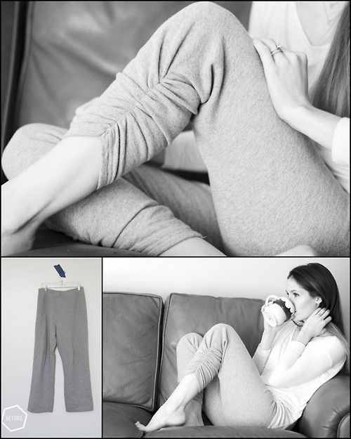 DIY Sweatpants Ruched Restyle Tutorial from Cotton + Curls. I...