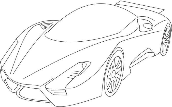 sport bugatti veyron coloring page