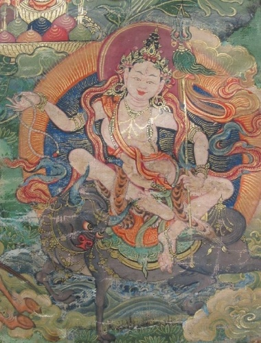 "According to Vajrayana Buddhism, Tara is a completely enlightened Buddha who made a promise in the distant past that after reaching complete enlightenment she would always appear in female form for the benefit of all beings. By iconographic category and hierarchy Tara is a meditational deity (ishtadevata, yidam) and her appearance is that of a peaceful deity, a Devi or ""bodhisattva appearance."" All peaceful deities of the pantheon are characterized as having bodhisattva appearance..."
