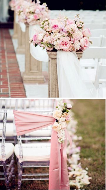 La #decoración de tu ceremonia lucirá increíble en tonos rosas. #Iglesia #Church…