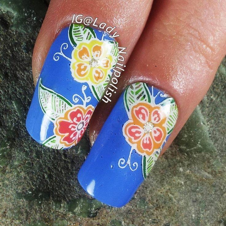 MoYou PRO XL 06  Tropical Flowers Manicure by Lady Nailpolish Nathalie BLOG: http://ladynailpolishnathalie.blogspot.com/2015/02/moyou-pro-xl-06-tropical-flowers.html  INSTAGRAM @ladynailpolishnathalie https://instagram.com/p/yiku3WA4z3/?modal=true