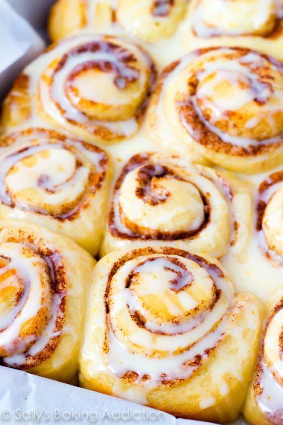 Fluffy, gooey cinnamon rolls with sweet orange glaze. Copycat Pillsbury recipe! These are amazing.