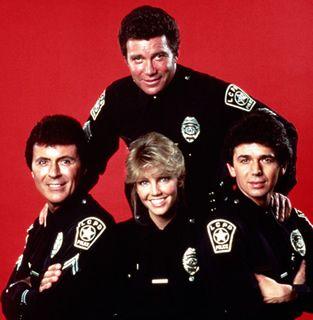 T.J. Hooker 1982-86 It starred William Shatner, Adrian Zmed, Heather Locklear, and James Darren