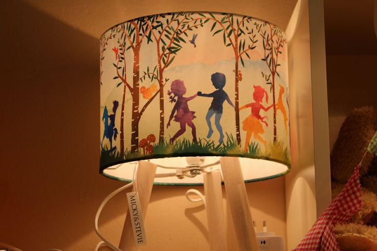 "Our most popular lamp as a gift for a newborn... called ""into the woods"" it is perfect for boys or girls."