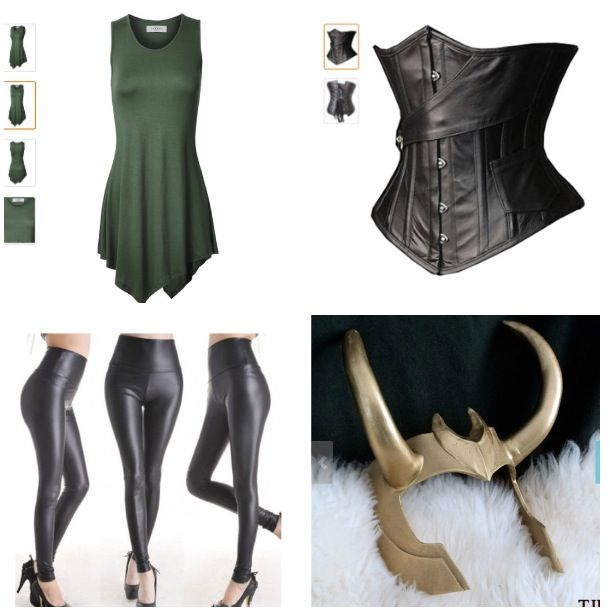 Ideas for my lady loki costume.                                                                                                                                                                                 More