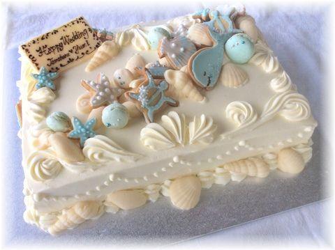 ウェディングケーキ デザイン 海 - Google 検索