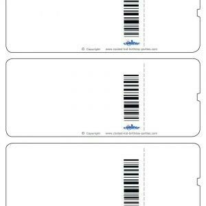 Blank boarding passes