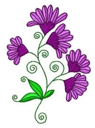 Swirly Flowers 9 - 4x4