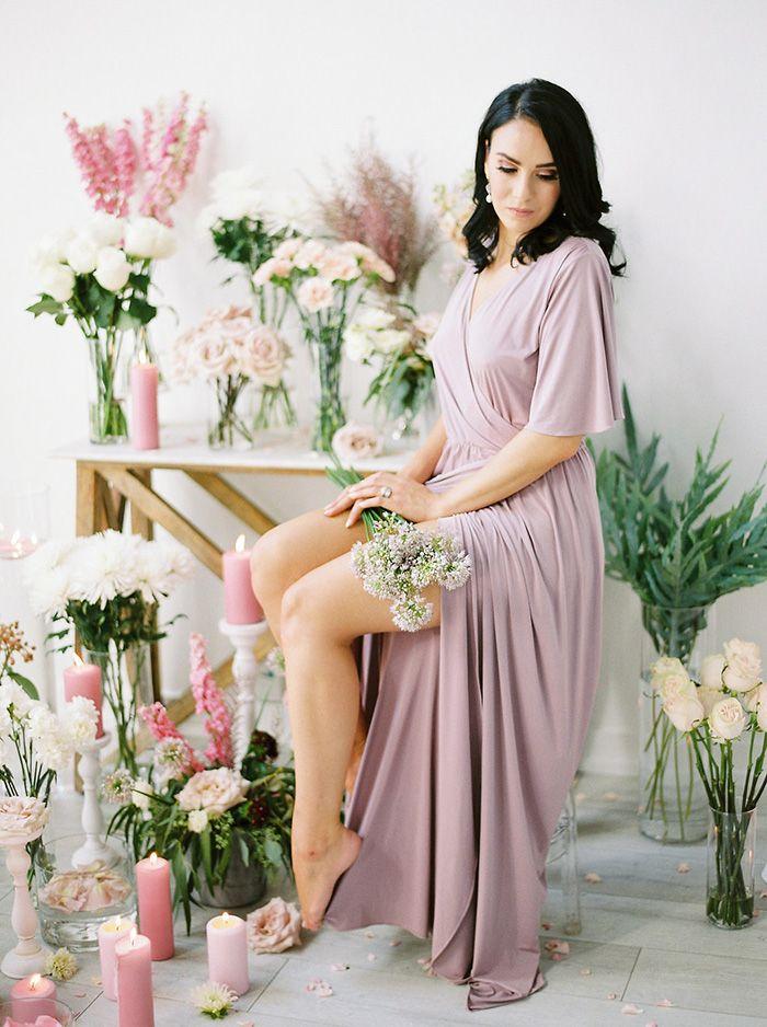 Flower Shop Inspired Bridal Photos  https://heyweddinglady.com/bridal-romance-blissful-lavender-blush-pink/    #beauty#bride#wedding#weddings #weddingideas#floral#flowers #weddingflowers #floraldesign #purplewedding #pinkwedding #pastels #bridesmaiddress