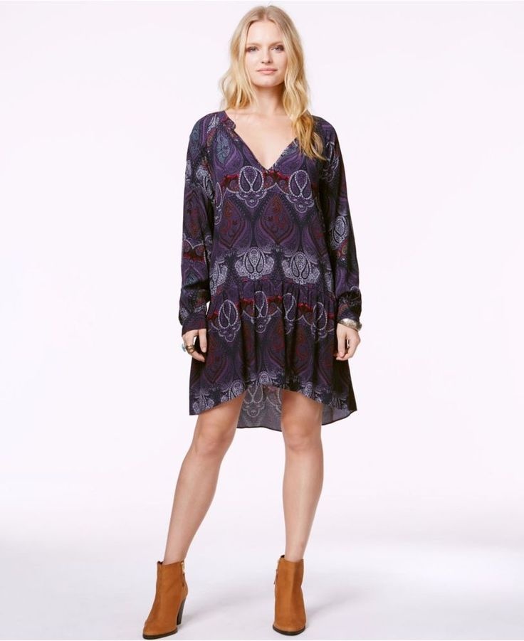 NWT $119 Sanctuary Folklore Bohemian Pleat Paisley V-Neck Casual Dress Tunic S  #Sanctuary #TUNICORDRESSShirtDress #Casual