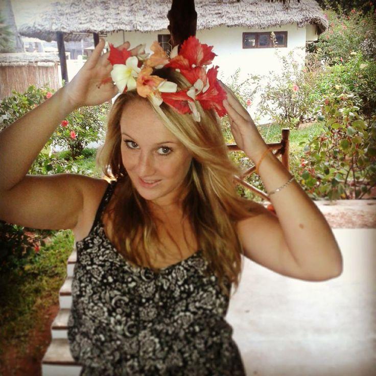 Flower tiara from hotel locals :)