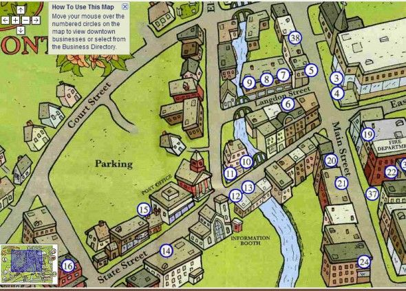 Дизайн карт месторасположения