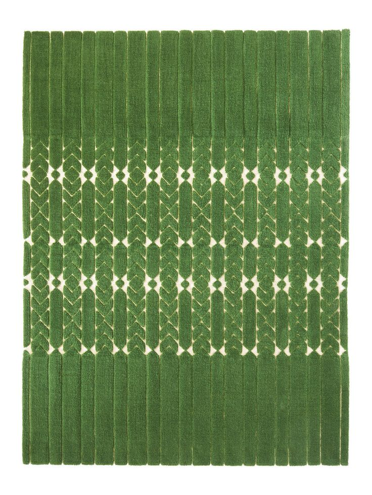 Tapis contemporain / en coton / en jute / en laine - INDIA MADHAVI - JARDIN INTERIEUR : JARDIN 1441 - LA MANUFACTURE COGOLIN - Vidéos