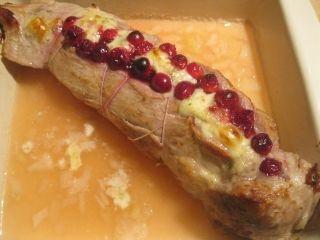 Filet de porc canneberges et brie
