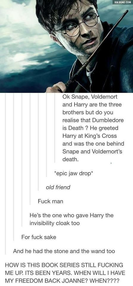 Holy fucking shit. Harry Potter still fucking my up even after all these years!