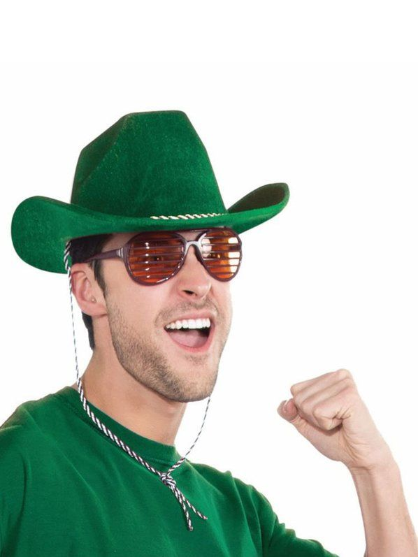 Check out Deluxe Green Cowboy Hat - Wholesale Hats from Wholesale Halloween Costumes