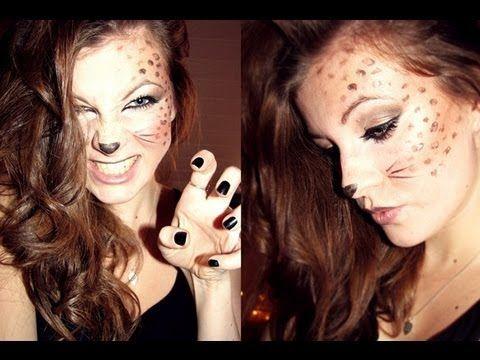Leopard makeup tutorial. @Sara Eriksson McMahan Halloween!!
