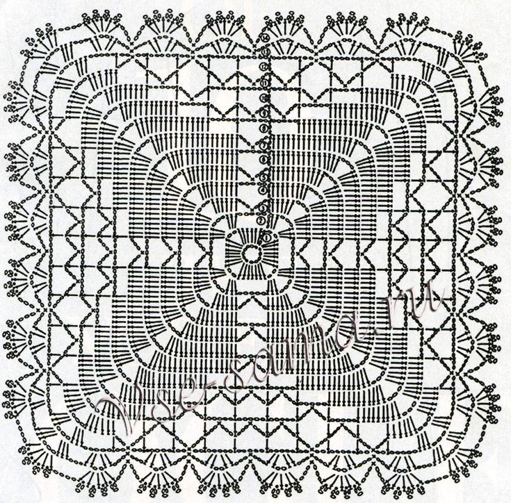 Декоративная наволочка крючком, схема
