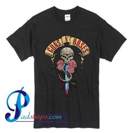 Guns N Roses skull & dagger logo T shirt