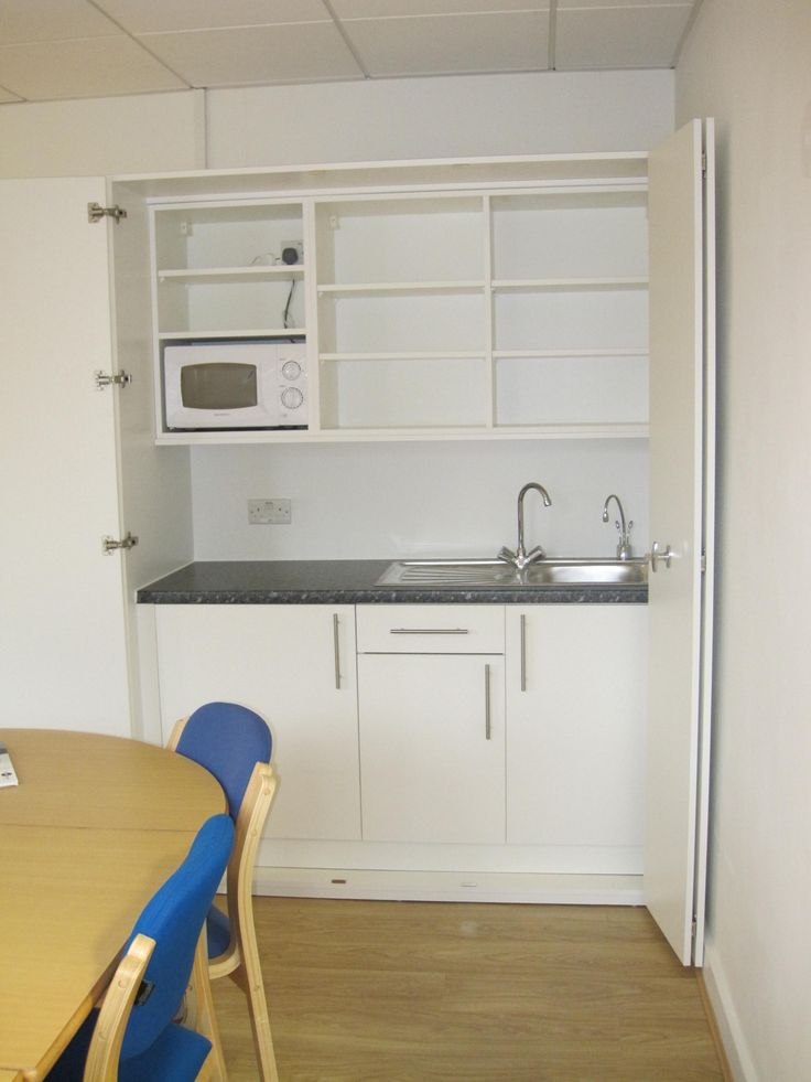 The perfect concealed kitchen solution in a school meeting room.