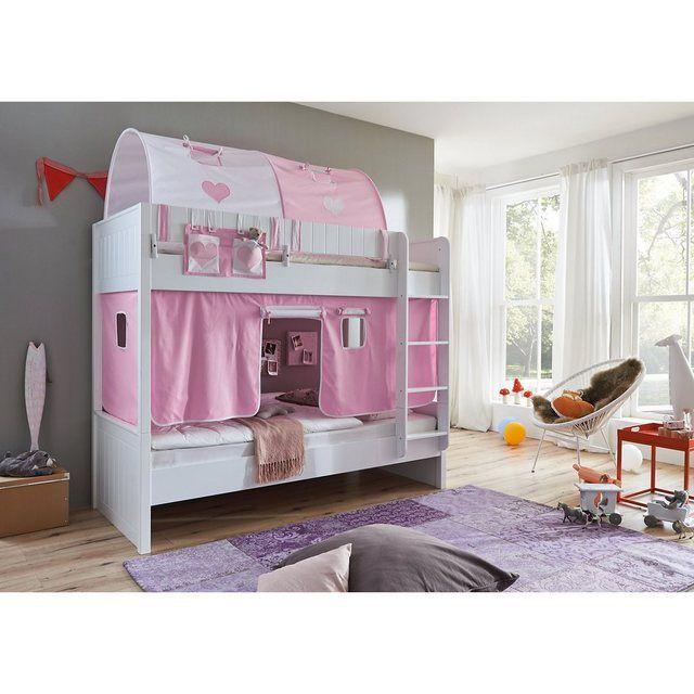 Betttasche Fur Hoch Etagenbetten Rosa Weiss Products In 2019