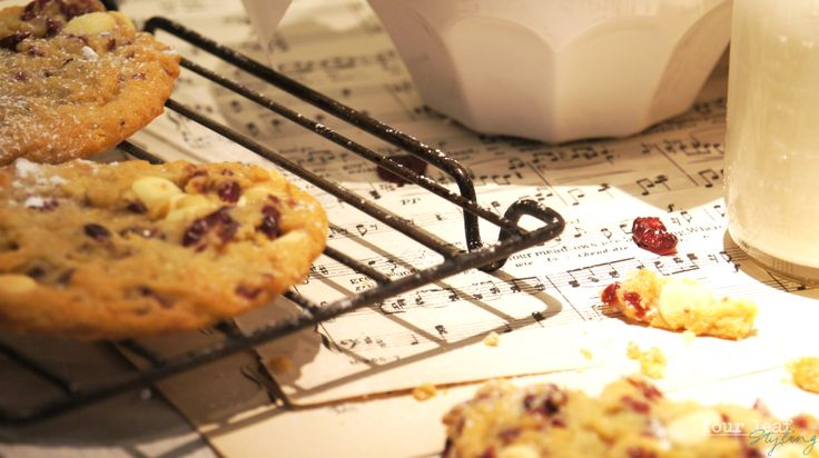 Cranberries and white chocolate biscuits | Four Leaf Styling