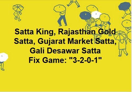 Satta King, Rajasthan Gold Satta, Gujarat Market Satta, Gali