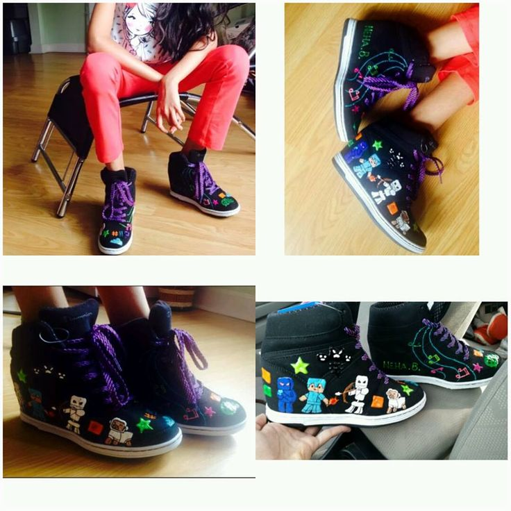 We love having happy customers! Here's a pic Neha posted. These kicks were a gift for her birthday. We included some of her hobbies and her favourite game, we wish you a happy belated Neha! We hope you love your shoes for back to school. Feel free to contact us. Friendly service is waiting. WWW.PARDONMYKICKS.COM INFO@PARDONMYKICKS.COM