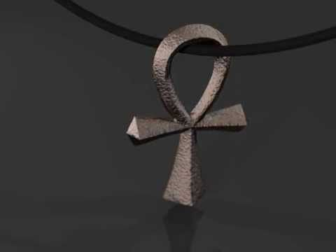 Ankh Stainless Steel Pendant by Mythos Jewelry