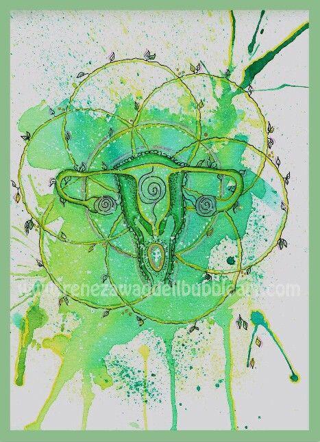 'Yoniflower ' www.renezawaddellbubbleart.com sacred feminine