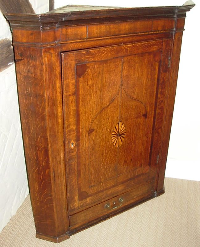 18thc Oak Corner Cabinet