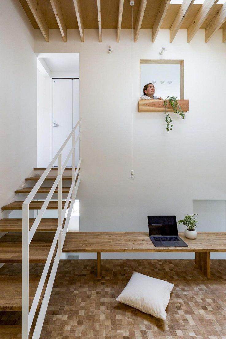 Box Shaped Japanese Home with Warm Minimalist Interior