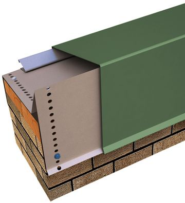 """Perma-Tite Coping - Over 6"""" to 12"""" Face Height, Masonry Attached Tapered Version  • 20 year, 110 mph Wind Warranty • ANSI/SPRI ES-1 Tested  • Custom fabricated in sizes to meet specific job requirements"""
