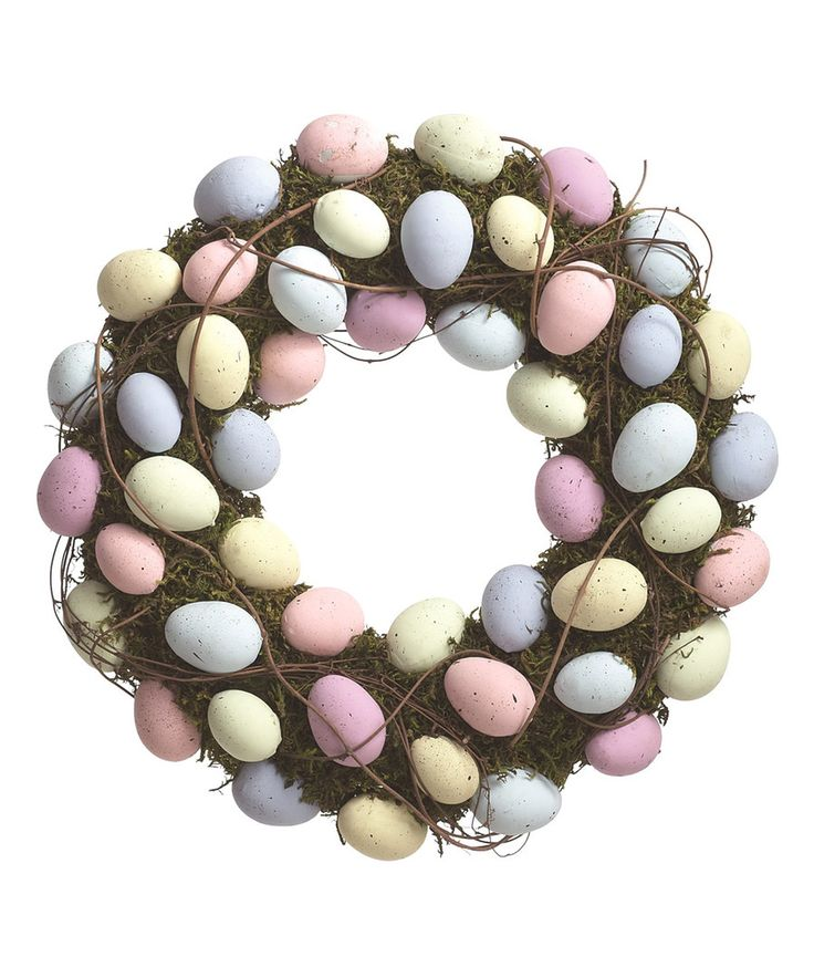 Look at this Moss Easter Egg Wreath on #zulily today!