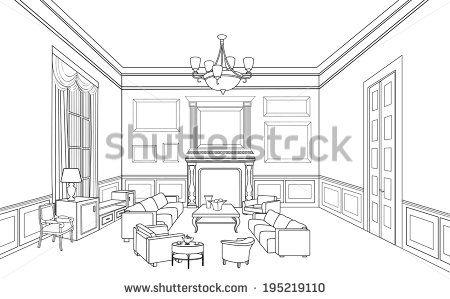 room sketch corner view - Google Search