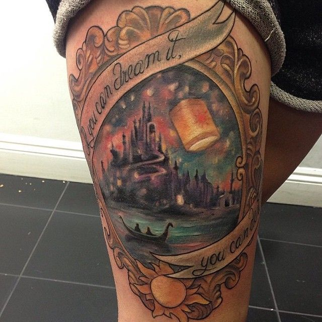 Rapunzel tattoo with a Horizons quote | Princesses ...