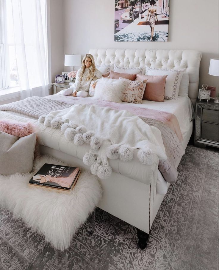 Girly Room Inspiration Pink Bedroom Decor Cozy Home Decorating