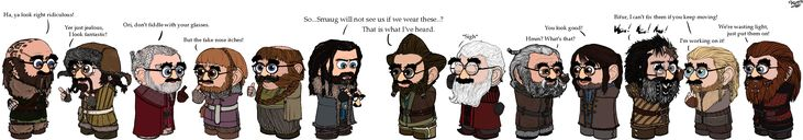 HOBBIT: DizGuyz Are Driving Me Crazy by ~Kumama on deviantART - Groucho Marx glasses! ;) sneeky