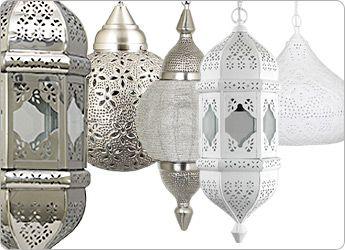 Prachtige hanglampen met een Oosters tintje - waan je op vakantie in je eigen huis.