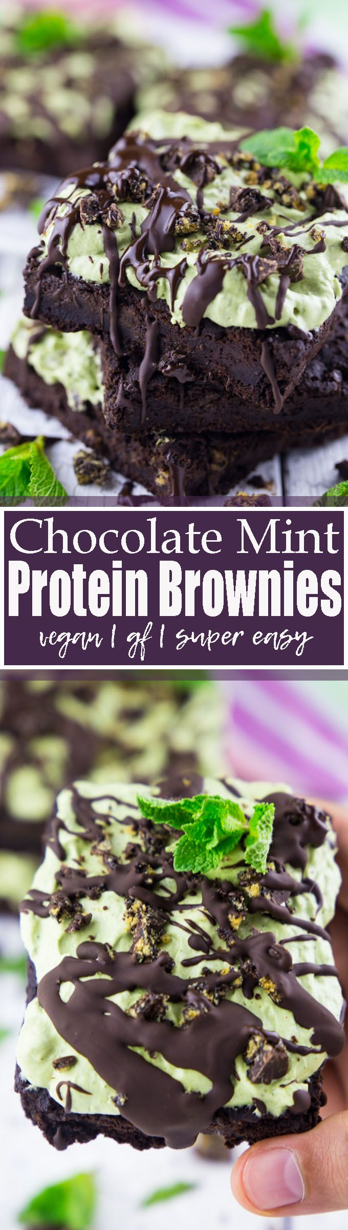 These protein brownies with chocolate mint topping are not only super delicious but also incredibly easy to make! And they're packed with protein and healthy ingredients! Plus, they're vegan and gluten-free. I can't get enough of these vegan chocolate mint brownies. Vegan baking can be so easy! Find more vegan recipes at veganheaven.org <3
