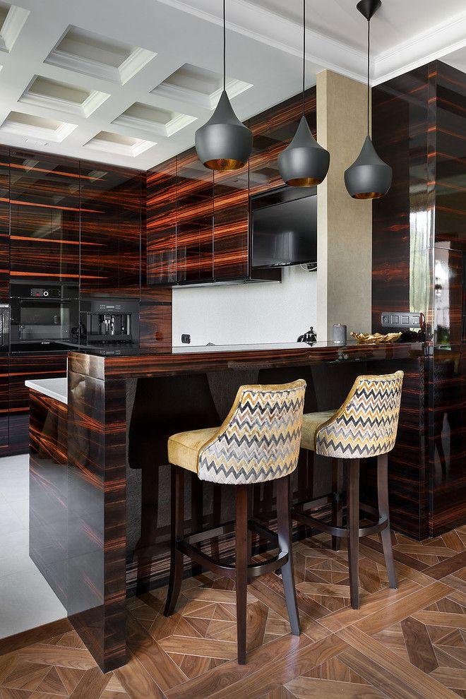 kitchen accessories design%0A    Kitchen With Dark Wood Cabinets Design Ideas