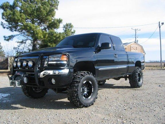 Aftermarket Rims For Chevy Silverado 1500 >> gmc sierra 2003 lifted regular cab black for sale ...