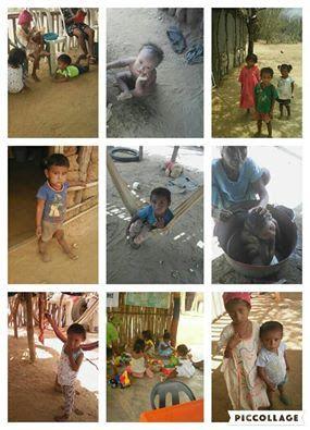Niños de las rancherías Kuapala y Tolundo, en Manaure (La Guajira), se…