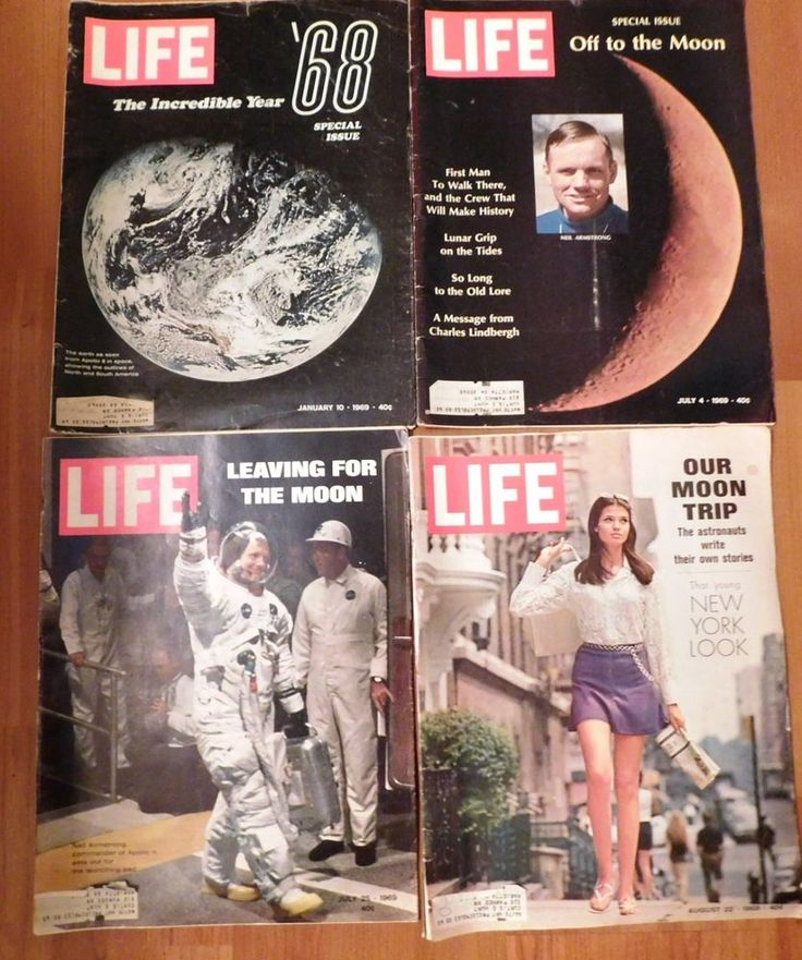 Lot of 4 LIFE Magazines 1969 Apollo Moon Landing 2 Special Issues History Making