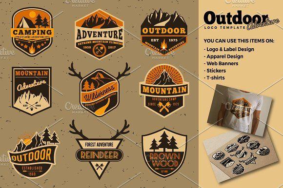 Outdoor Adventure Logo Templates by Raftel on @creativemarket