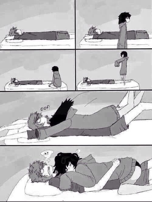 love funny cute anime friends bed Cuddle hug funny pics surprise sleeping Anime Couple