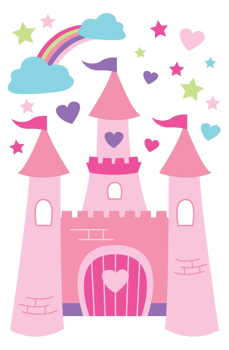 For walls princess castle wall decals children 39 s decor for Castle wall mural sticker
