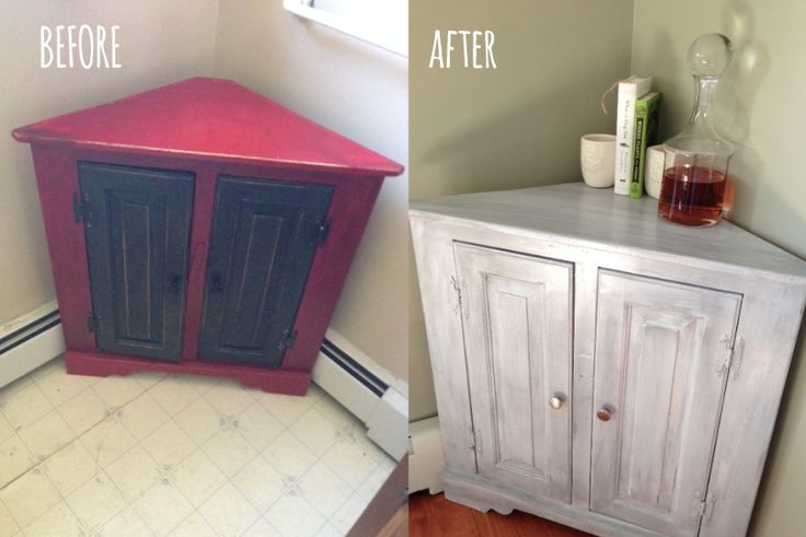 paint job and new knobs, corner cabinet DIY, distressed - turned it into a liquor cabinet :)
