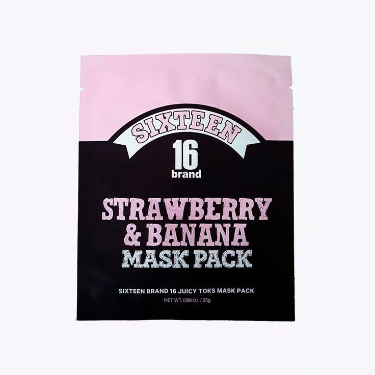 SIXTEEN BRAND 16 Garden Toks Mask Pack Strawberry & Banana Facial Mask Skincare